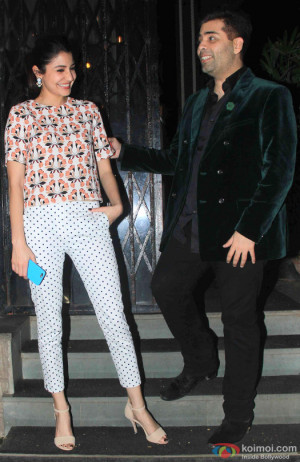 Anushka Sharma and Karan Johar Spotted At Nido Restaurant Bandra