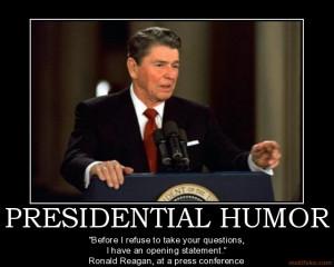 PRESIDENTIAL HUMOR -
