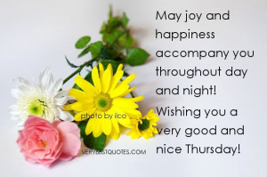 Cute Happy Thursday Quotes | Good morning quotes - Thursday - May joy ...