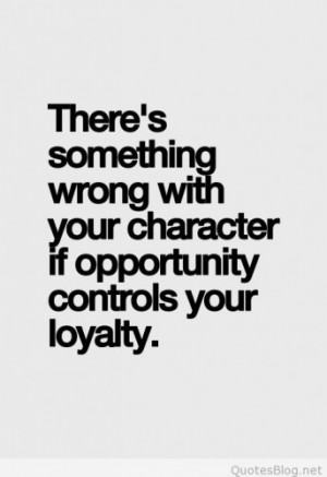 Something wrong with your character quote