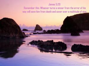 Bible Verse Wallpaper - James 5:20
