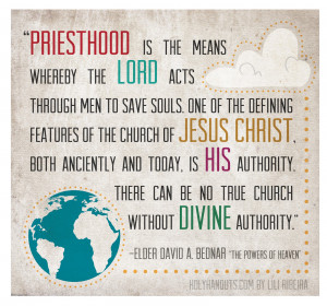 Young Women Manual 1 Lesson 15: The Melchizedek Priesthood