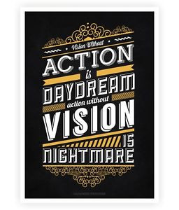 ... -action-is-daydream-Japanese-proverb-Inspirational-Quotes-Poster