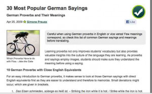 All Levels) German sayings and proverbs Learn vocabulary through ...