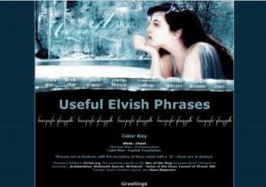 elvish phrases