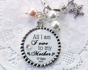 Wedding Day Quotes For Bride Mother of the bride pendant,