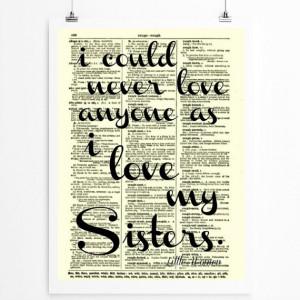 Sister Quote, Sisters Art, Sorority, Wall Decor, Art Print, Little ...