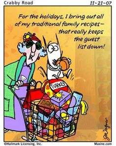 ... holiday recipe quote maxine cartoons maxine humor cooking tips crabby