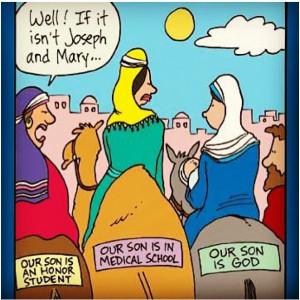 Christian humor.