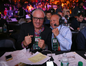 Gerry Cooney SirisXM broadcasters Gerry Cooney and Randy Gordon during