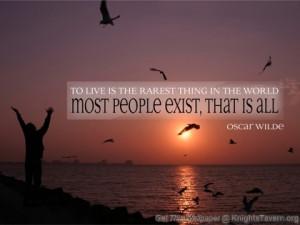 ... Oscar Wilde inspirational quote desktop wallpaper (click to download