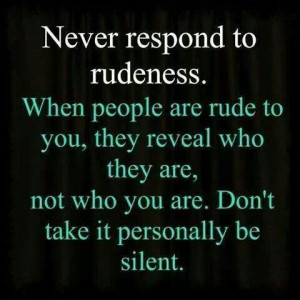 Rude people