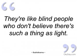 One a proverb for a blind people