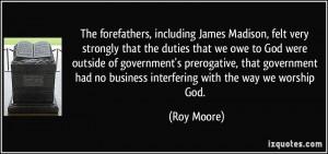 JAMES MADISON'S RELIGIOUS BELIEFS