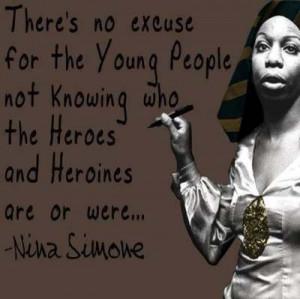 Nina Simone Quote ~ singer ~learning