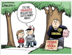 ... : Government unions are not the same thing as private-sector unions
