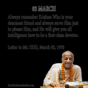 Srila Prabhupada Quotes For Month March 03
