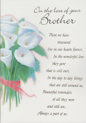 ... Greeting Cards, Sympathy Cards, Brother, On The Loss Of Your Brother