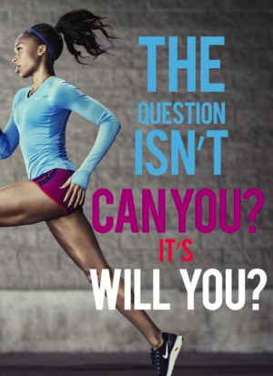 Motivational fitness and diet blog with a running quote