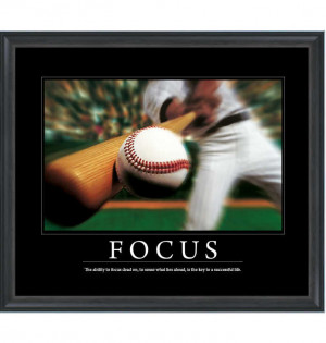 Focus baseball poster Motivational Poster