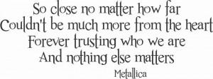 metallica, song, nothing else matters, metal