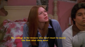 That 70's Show Donna and Kelso Speaking About College