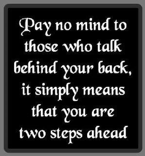 talk behind your back