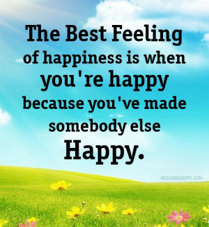 The Best feeling Of happiness