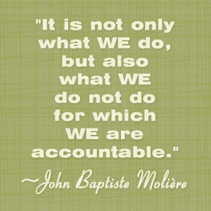 Being Accountable – jokes and quotes