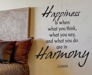 Align What You Think Say and Do Gandhi Wall Quote Decal