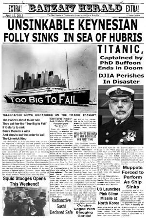 Les moteurs du Titanic : avant…