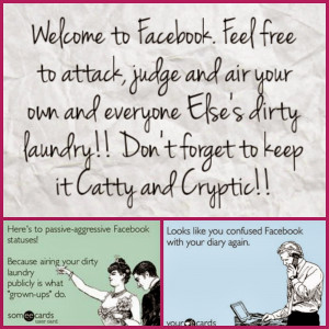 Dirty Pictures On Facebook Dirty laundry