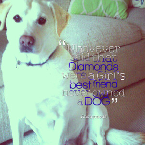 Quotes Picture: whovever said that diamonds were a girl's best friend ...