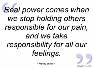 real power comes when we stop holding