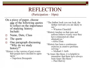 ... quotes to reflect on the importance of studying history. Include