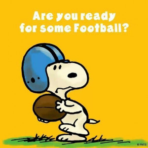 Snoopy: Are You Ready For Some Football?
