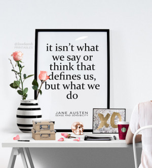 Jane Austen quote print art wall art printable wall decor print ...