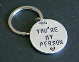 You're My Person Metal Stamp Keycha in Grey's Anatomy Quote ...
