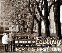 couple, cute, for the first time, love, lyrics, old couple, old people ...