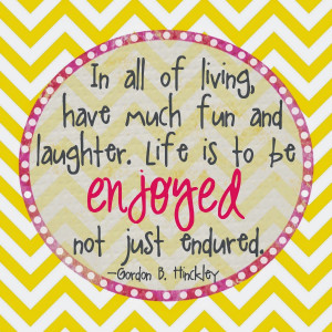 Have Fun In Life Quotes Life is to be enjoyed,