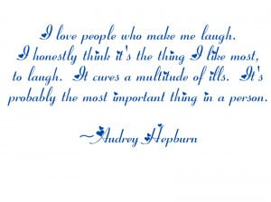 ... quotes from Ms. Hepburn that show how beautiful she was- both inside