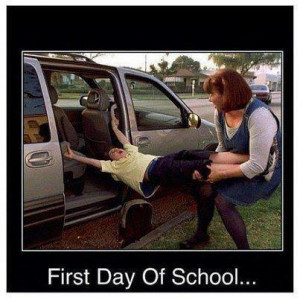 First day of school - funny image