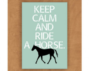 Horse Magnet Keep Calm and Ride a Horse t 2 x 3