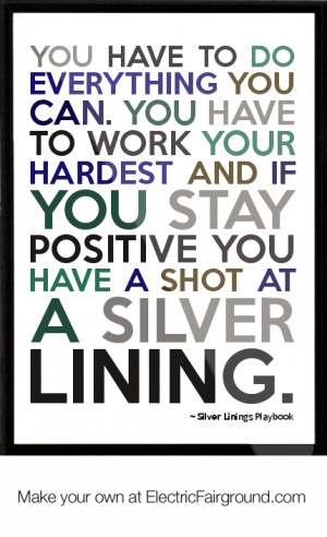 Home Quotes Silver Linings Play Quotes