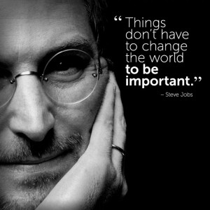 motivational #inspirational #quote by Steve Jobs