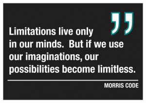 . But if we use our imaginations, our possibilities become limitless ...