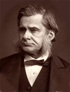 Huxley en una impresa de Lock & Whitfield, Londres 1880 o antes.