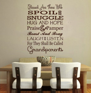 Grandparents Quote Wall Vinyl Decal Love Family Children Parents Gift