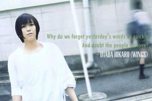 Utada Hikaru Song Quotes -WINGS-