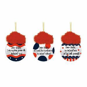 Auburn University Team Sayings Christmas Ornaments